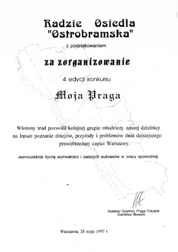 "4 edycja konkursu ""Moja Praga"""